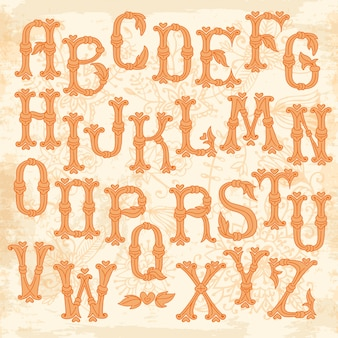 Причудливые рисованной буквы алфавита