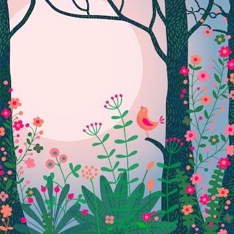 Красочная пейзажная иллюстрация