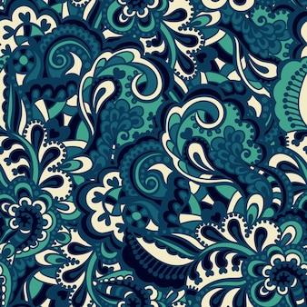 シームレスな抽象的な手描きのパターン