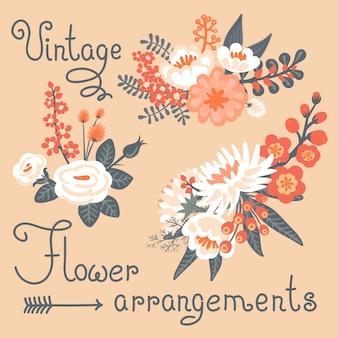 Старинные цветы. милый цветок для дизайна