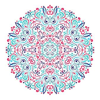 Абстрактная цветочная мандала.