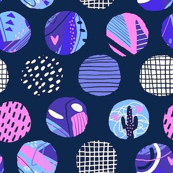 水玉のシームレスなパターン。抽象的なテクスチャサークル要素。モダンな背景