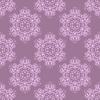 装飾花のシームレスなパターン。