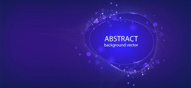 抽象的なブルーモーションライト効果のベクトルの背景。ビジネス、科学、技術設計のため。