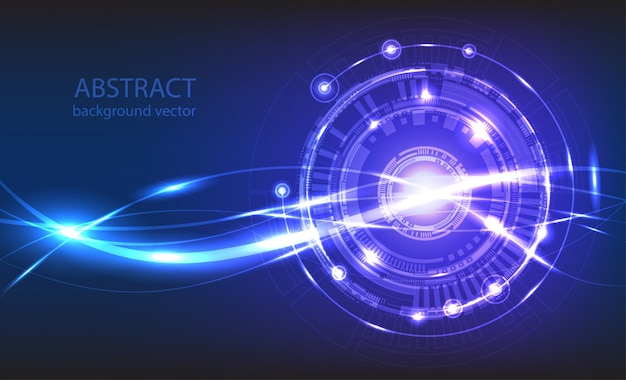 抽象的なテクノロジーのベクトルの背景