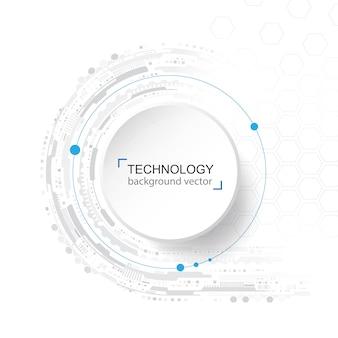 抽象的な技術の背景。デジタルネットワークとハイテクの概念。