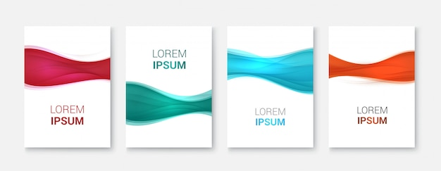 色波デザインと抽象的なビジネス背景コレクション