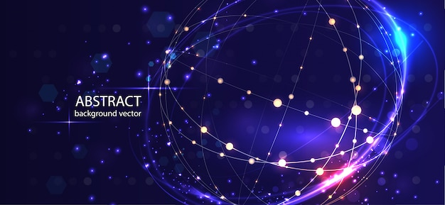 Абстрактный фон технологии вектор. для бизнеса, науки, технологий проектирования.