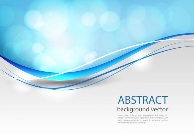 青い線の抽象的な背景。