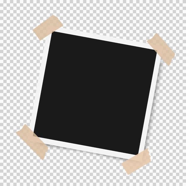 粘着テープで影付きフォトフレーム