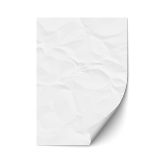 Лист мятой бумаги
