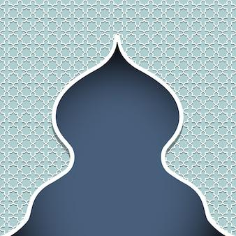 モスク - 伝統的なイスラム飾りで飾られたシルエット