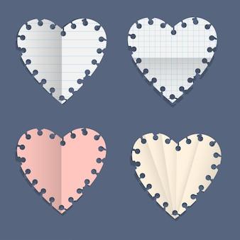 Сердца бумажные записки