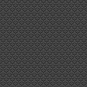 ロイヤルリリーと黒のシームレスパターン
