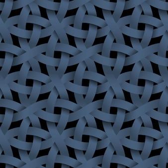 暗いシームレスパターン、織り紙ブルーストライプ