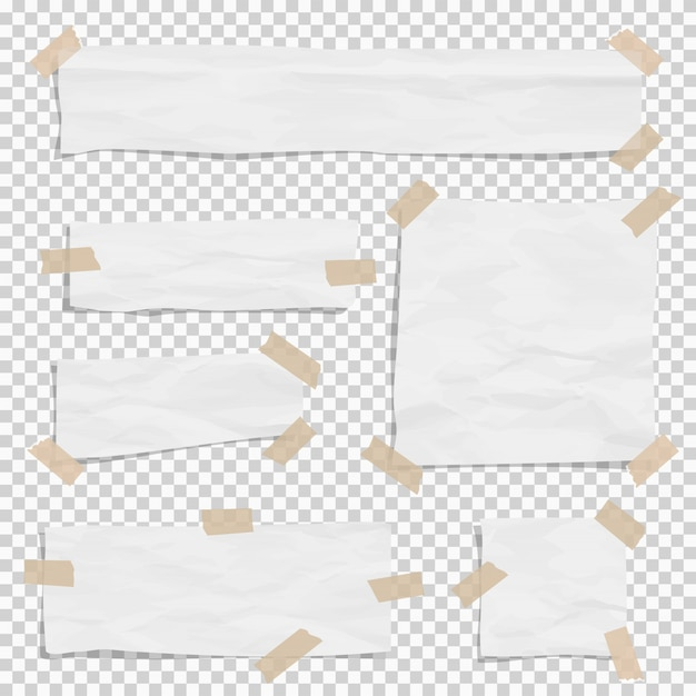 ホワイトペーパーは異なるサイズのスティッキタップで破片