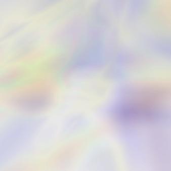 パステルカラーの抽象的なぼやけたホログラフィック背景