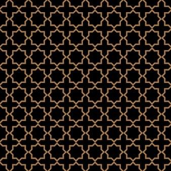 星とアラビア風の暗いのシームレスパターン