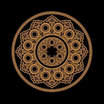 民族ヘナ曼荼羅 - 丸い飾り模様