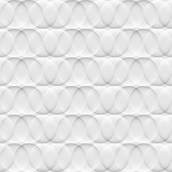 サークルと光の抽象的な白とグレーのシームレスパターン