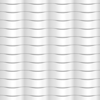 紙白のシームレスな波状パターン