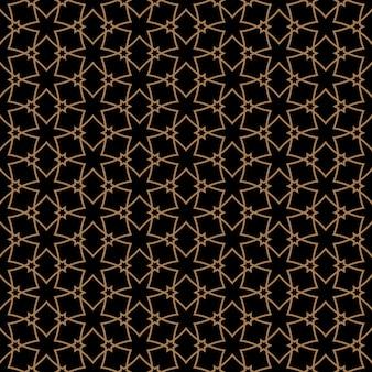 星とアラビア風のシームレスパターン
