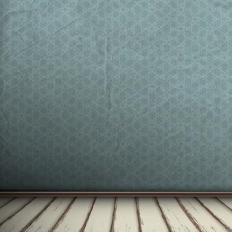 ビンテージルームの背景の空の灰色のインテリア