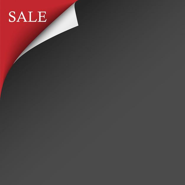 Черный красный фон углу продажи