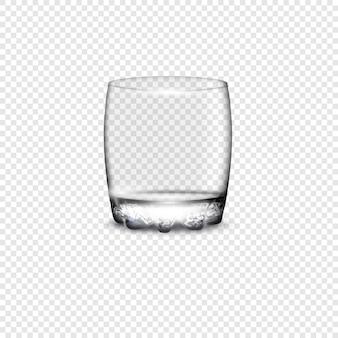 空のグラスを飲む