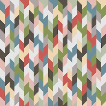 レトロな色の幾何学的なシームレスパターンまたは背景