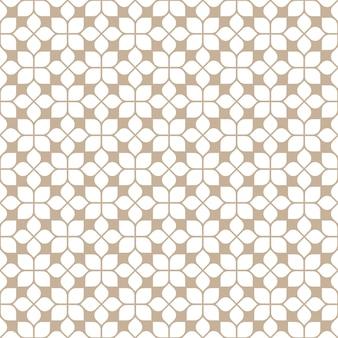 オリエンタルスタイルのベージュのシームレスなタイルパターン