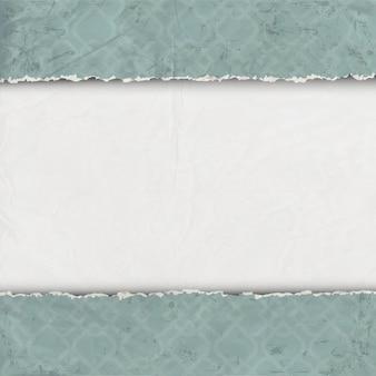 破れた古い紙の境界線