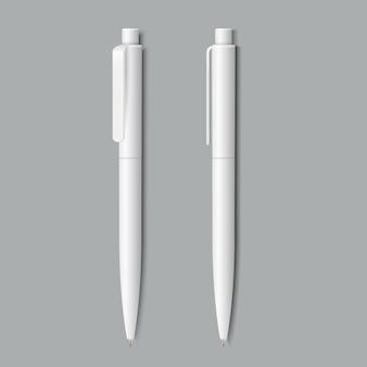 白い現実的なペン