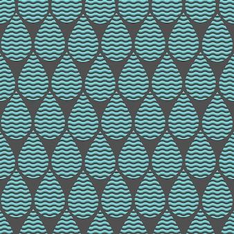 水滴と様式化された背景