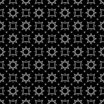 アラビア風の黒と白のシームレスパターン