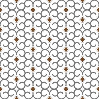 アラビア風の幾何学的なシームレスパターン