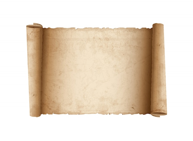 Горизонтальная старая бумага с прокруткой