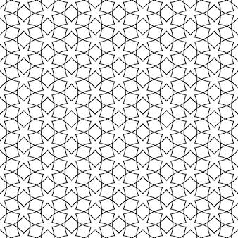 Нежный бесшовный узор со звездами - арабский стиль