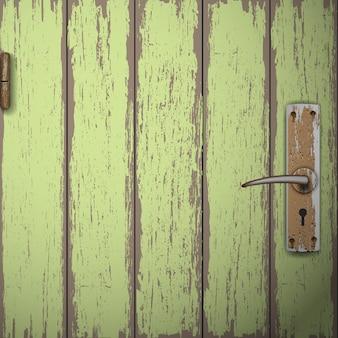 古い木製のドアの背景