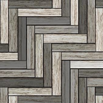 木製の灰色の寄せ木張りの背景
