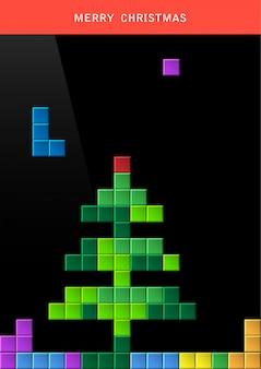 ゲームコンピューターの画面上のクリスマスツリー