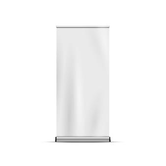 Сверните баннер стенд, изолированные на белом