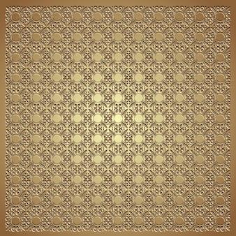 金のエンボスのシームレスなパターン背景