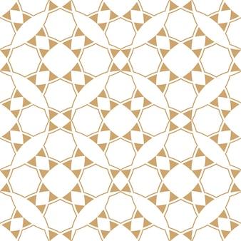 抽象的な幾何学的なエスニックパターン、金と白のテクスチャ