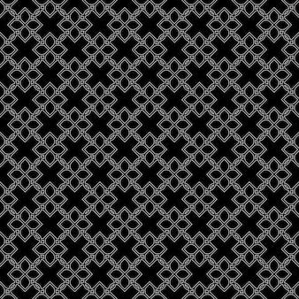 オリエンタルスタイルの黒のシームレスパターン