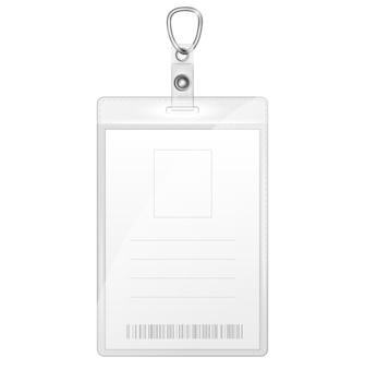 Пластиковый значок для идентификации личности
