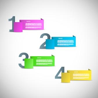 進行状況またはバージョンのプレゼンテーション用の用紙テンプレート