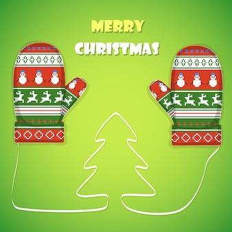 クリスマスのポストカード。