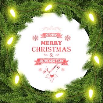 Рождественский фон с ветвями
