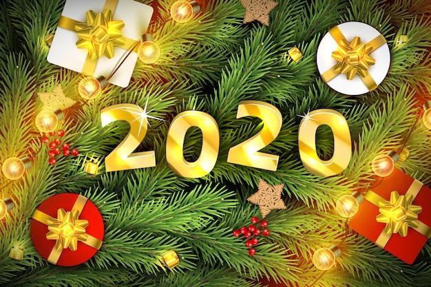 メリークリスマスと新年あけましておめでとうございます背景。